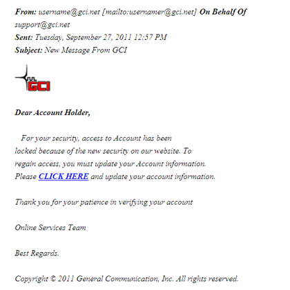 Phishing Attempt