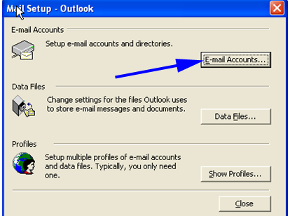 Select E-mail Accounts