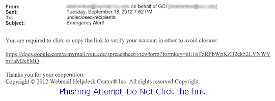 Phishing Attempt, Delete email