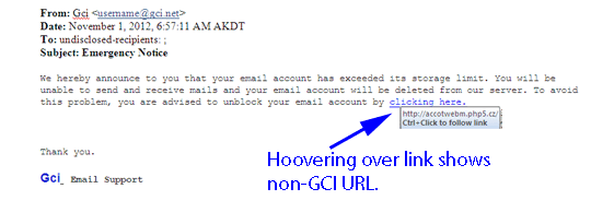 Phishing email, Delete