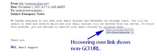 Phishing email, Delete