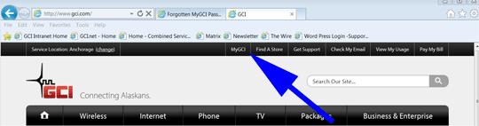 Click MyGCI link