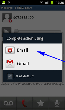 Select Email Account
