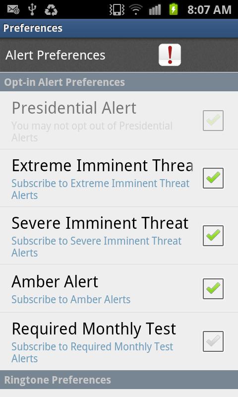 Select Alerts