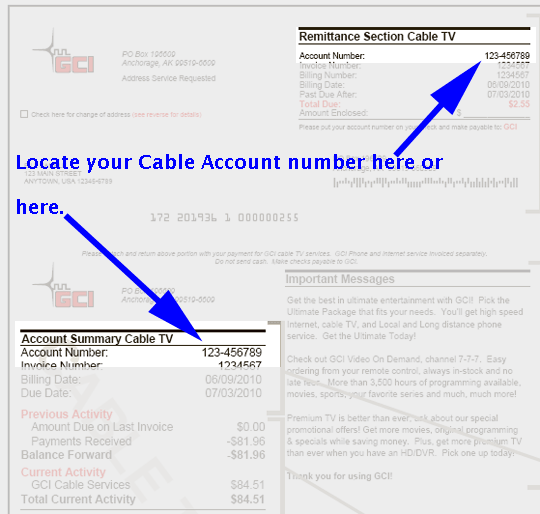 cable invoice