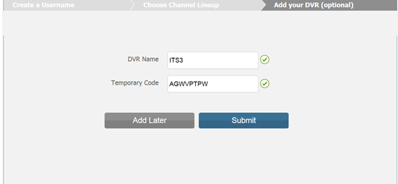 Temporary Code