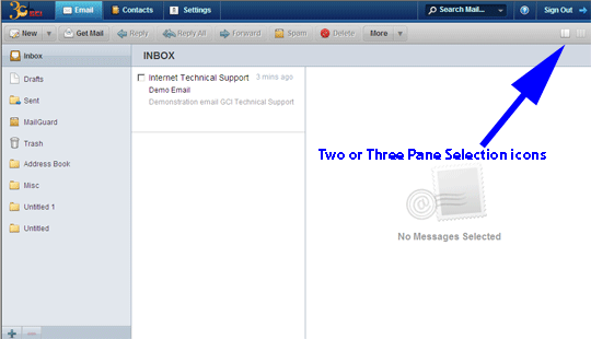 WebMail Pane View Options