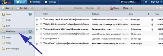 MailGuard Folder