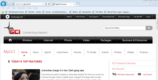 MyGCI Page