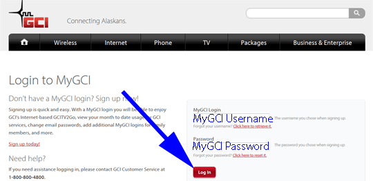 Log into MyGCI
