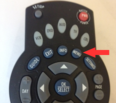 GCI remote menu button