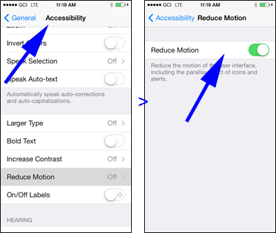Accessibility & Reduce Motion