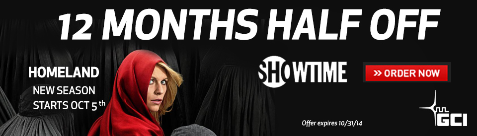 Showtime 12 months half off on GCI TV