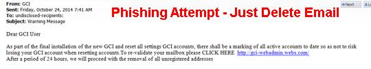 Phishing, Delete Email