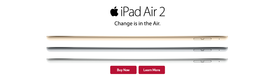 iPad Air 2 and mini 3 available at GCI