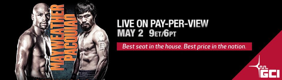 Mayweather vs Pacquiao PPV on GCI TV